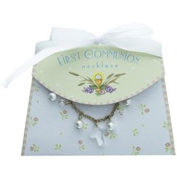 First Communion Necklace and Purse