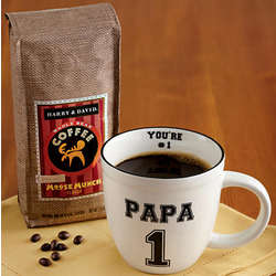 Papa Mug with Whole Bean Coffee