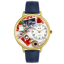 Gold Coffee Lover Watch