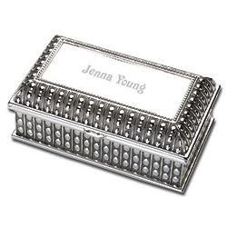 Egyptian Design Silver Jewelry Box