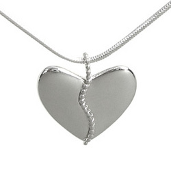 Harmony Heart with 25 Silver Beads Necklace