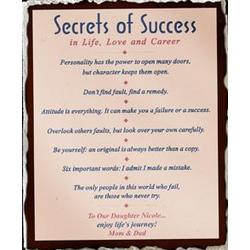 Secrets of Success Slate