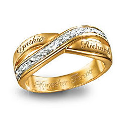 Eternity Personalized Double Band Diamond Ring