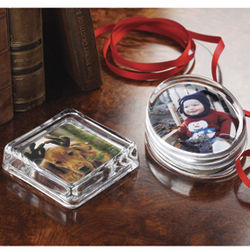 Glass Photo Paperweight