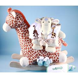 Plush Giraffe Rocker Gift Set