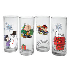 Peanuts Holiday Glass Set