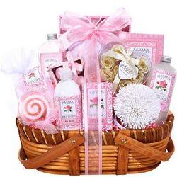 Rose Delights Bath Gift Basket