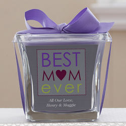 Personalized Best Mom Ever Lavender and Linen Candle