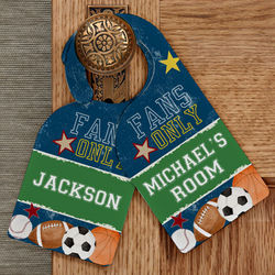 Personalized Boy's Sports Bedroom Door Hanger