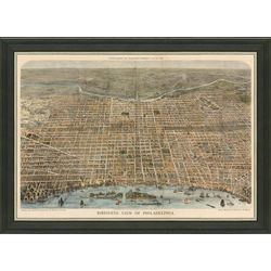 Framed Map of Vintage Philadelphia