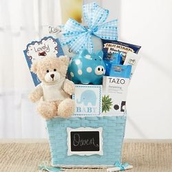 Oh Baby Blue Gift Basket