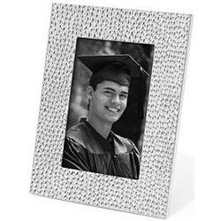 Silver Shimmer Metal Graduation Frame