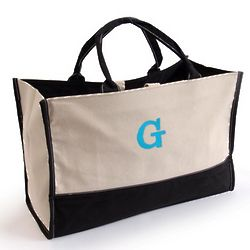Personalized Metro Tote Bag with Monogram
