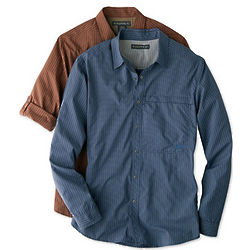 Trip'r Check Long Sleeve Shirt with UPF 30