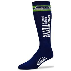 Seattle Seahawks Super Bowl XLVIII Champions Tube Socks