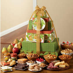Tower of Treats Super Grand Deluxe Fruit and Snack Gift Tower