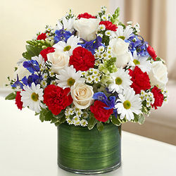 Red, White and Blue Cherished Memories Floral Bouquet