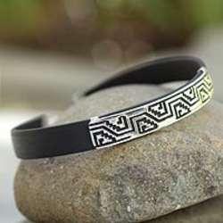 Men's Taxco Frieze Sterling Silver Bracelet