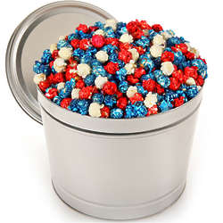1 Gallon of Patriotic Popcorn in Tin