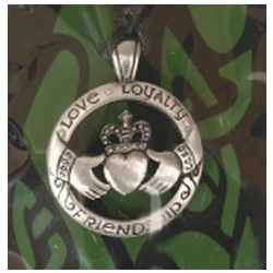 Celtic Claddagh Pewter Pendant