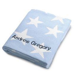 Blue Star Knit Blanket