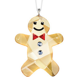 Swarovski Crystal Gingerbread Man Ornament