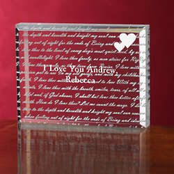 Personalized Romantic Paperweight - How Do I Love Thee