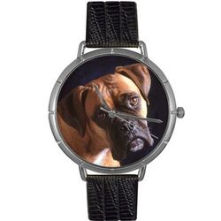 Boxer Print Watch in Classic Silver Case