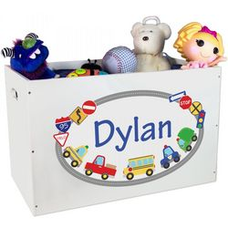 Personalized Open Top Toy Box
