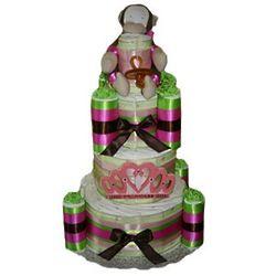 Organic Princess Diaper Cake