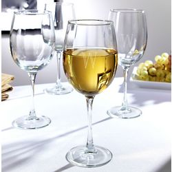 Brisbane Vintage Personalized White Wine Glasses