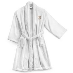 White Plush Robe with Pockets