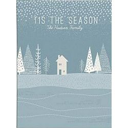 Personalized Winter Scene Canvas Wall Art