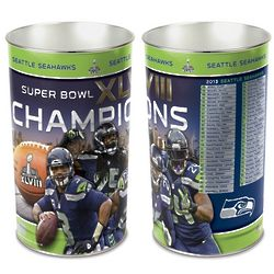 Seattle Seahawks Super Bowl XLVIII Champions Wastebasket