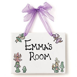 Personalized Fairies Name Plaque