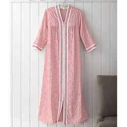 Long Robe in Easy Care Plissé Fabric