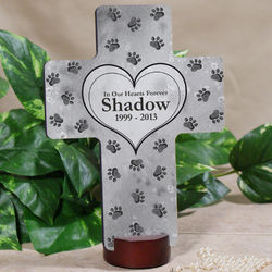 Personalized Pet Heart Memorial Cross