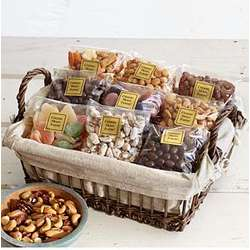 Nuts, Sweets and Snacks Gift Baskets
