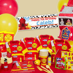 Firefighter-Themed Ultimate Party Pack