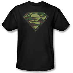 Camouflage Superman Logo T-Shirt