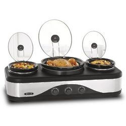 Multi-Size Triple Slow Cooker