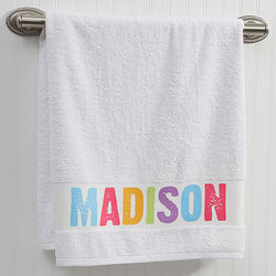 All Mine Kid's Personalized Bath Towel