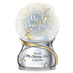 My Daughter, You Are My Shining Star Illuminated Glitter Globe
