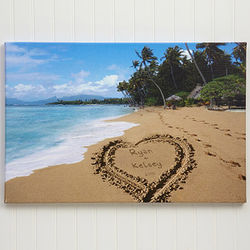 Personalized Our Paradise Island Canvas Print
