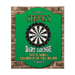 Dart Lounge Personalized Wall Sign