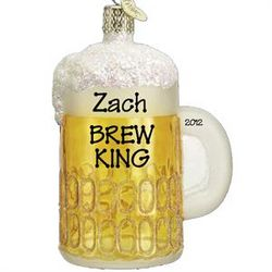 Personalized Beer Mug Ornament