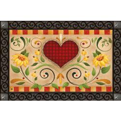 Heart Flowers Indoor/Outdoor Doormat