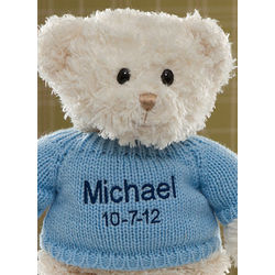 Personalized Baby Boy Teddy Bear