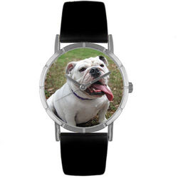 Bulldog Print Watch in Classic Silver Case