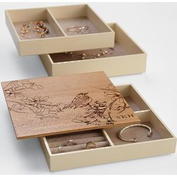 Personalized Bird and Branch Modular Jewelry Box